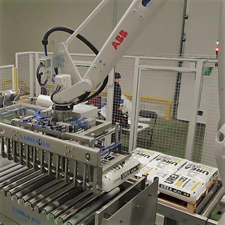 Robotska paletizacija vreč