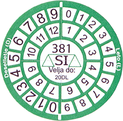 Verification Marking - Round Sticker