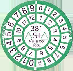 Verification Marking - Round Sticker