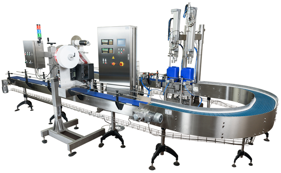 Filling machines for liquid and paste containers