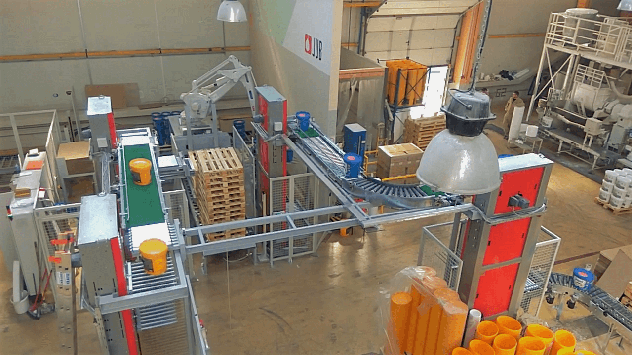 Robotic Palletisers for Buckets